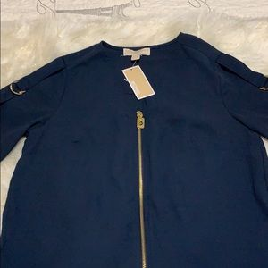 MICHAEL KORS BLOUSE. NAVY. NEW WITH TAGS.